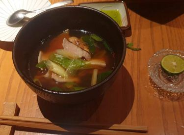 Traditional mushroom miso with vegetables. Amazing !!!!